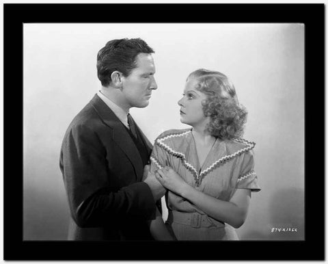 Jean Harlow Couple Shot Scene from a Film in V-Neck Short Sleeve Tweed Linen Shirt High Quality Photo