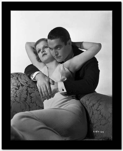 Jean Harlow Couple Shot in White Dress High Quality Photo