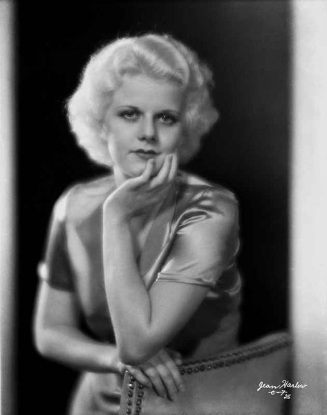 Jean Harlow Portrait in Silk Shirt Premium Art Print
