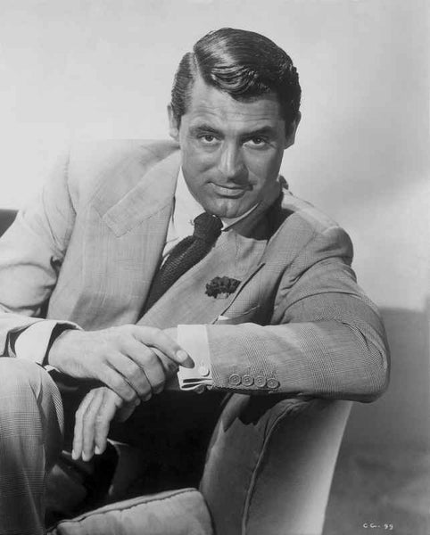 Cary Grant Seated in Formal Suit Premium Art Print