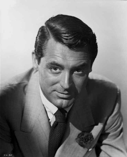 Cary Grant With Part In Hair In A Suit Premium Art Print