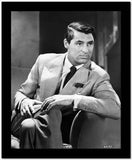 Cary Grant Legs Crossed In Suit And Tie High Quality Photo
