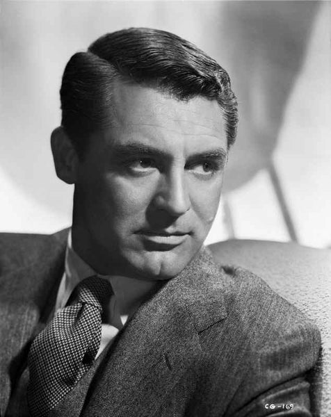 Cary Grant in a Suit and Printed Tie Premium Art Print