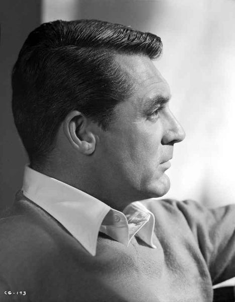 Cary Grant in long sleeves and collared shirt Premium Art Print