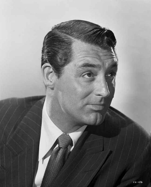 Cary Grant in pinstriped jacket and tie Premium Art Print