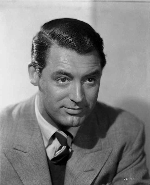 Cary Grant wearing a Gray Suit and Necktie Premium Art Print