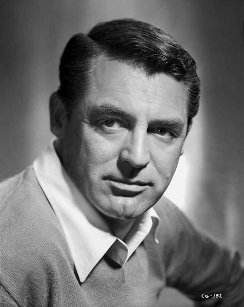 Cary Grant wearing a Knitted Sweater Premium Art Print