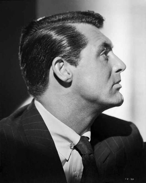 Cary Grant Side view and Close Up Portrait Premium Art Print