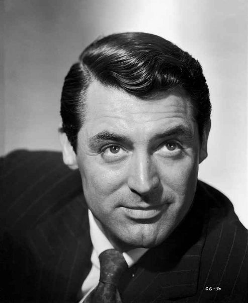 Cary Grant portrait in pinstriped jacket and tie  Premium Art Print