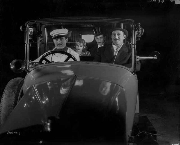 Greta Garbo Car Scene in the Movie Premium Art Print