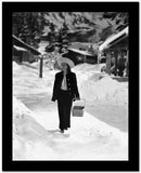 Greta Garbo Walking in a Full Sleeve Top Carrying a Basket High Quality Photo