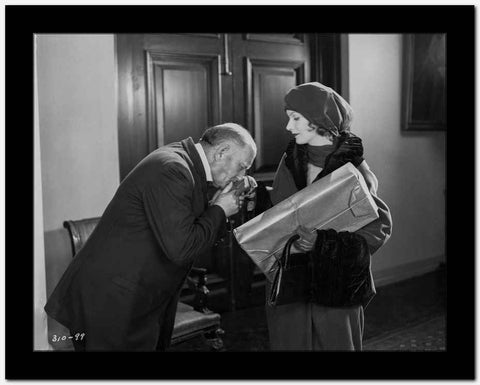 Greta Garbo an Old Man Kissing Her Hand High Quality Photo