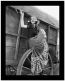 Greta Garbo Posed in Wagon High Quality Photo