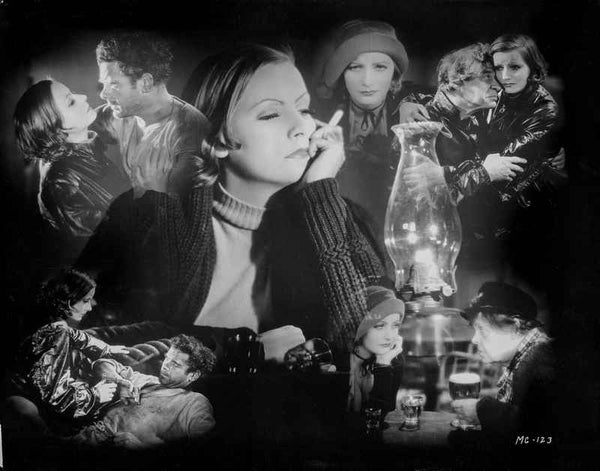 Greta Garbo Collage Premium Art Print