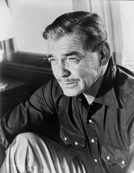 Clark Gable Portrait With A Moustache Premium Art Print