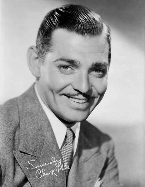 Clark Gable smiling Portrait In Suit Tie And Moustache  Premium Art Print ...