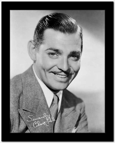 Clark Gable smiling Portrait In Suit Tie And Moustache High Quality Photo ...