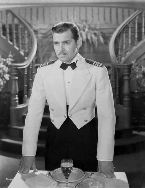 Clark Gable Formal Setting With Bow Tie And Jacket Beautiful Stair Case -...