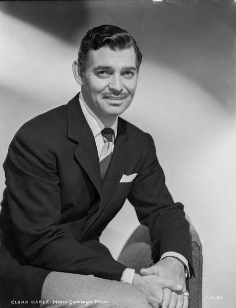 Clark Gable With A Formal Look sitting Down In Suit And Tie - Photog...