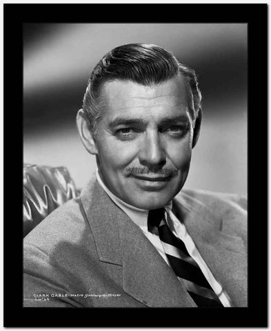 Clark Gable Portrait sitting Down In Suit And Tie High Quality Photo High ...