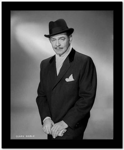 Clark Gable In A Suit And Top Hat With Moustache High Quality Photo High Q...