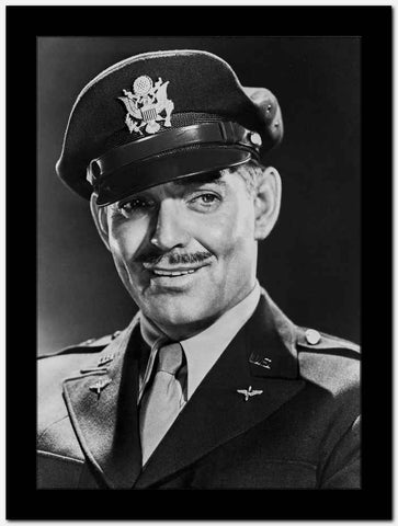Clark Gable Head Shot Portrait in Suit and Hat High Quality Photo