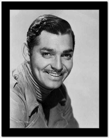Clark Gable Portrait With Moustache Classic Movie smiling Pose High Quality Photo High ...