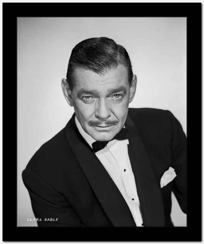 Clark Gable In A Tux With Moustache Looking Down Portrait High Quality Photo