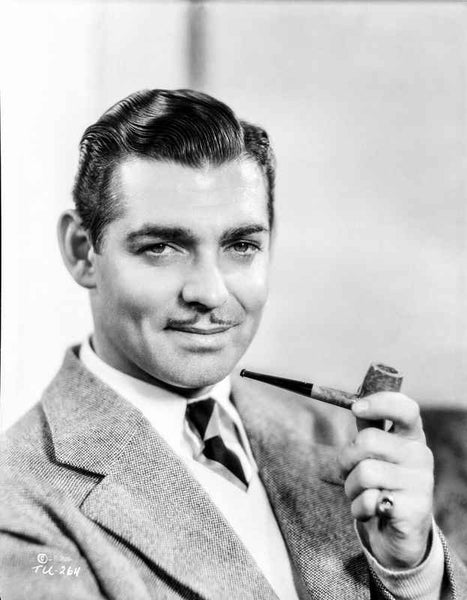 Clark Gable Smoking a Pipe Premium Art Print