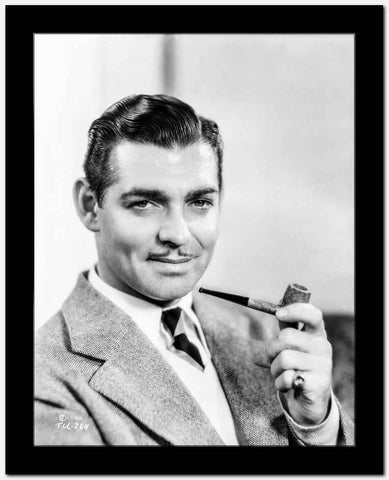 Clark Gable Smoking a Pipe High Quality Photo
