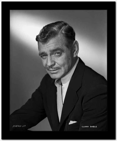 Clark Gable In Suit And Tie High Quality Photo
