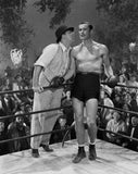 Errol Flynn Talking in Boxing Ring Premium Art Print