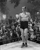 Errol Flynn standing in Boxing Ring Premium Art Print