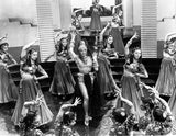 Marlene Dietrich Dancing in Sexy Dress with Dancers Premium Art Print