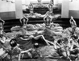 Marlene Dietrich Dancing in Ballet Outfit with Dancers Premium Art Print