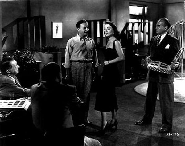 Damned Don't Cry Movie Scene with Joan Crawford and Other Cast in Black and White Premium Art Print