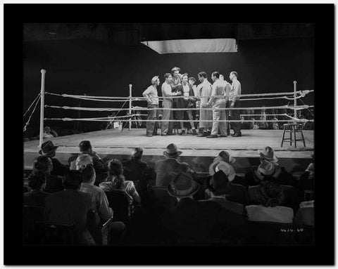 Dead End Kids Boxing in Classic Fight Scene High Quality Photo