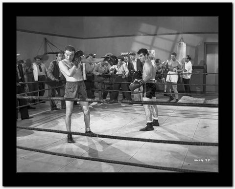 Dead End Kids Boxing Fight Scene in Black and White High Quality Photo