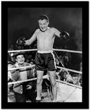 Dead End Kids Boxing Scene on the Ring in Black and White High Quality Photo
