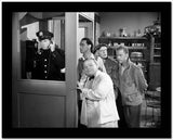 Dead End Kids Scene on the Payphone in Black and White High Quality Photo