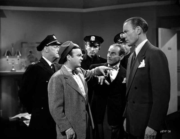 Dead End Kids Cast member Arguing with the Escorts of Policemen Premium Art Print