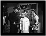 Dead End Kids Scene With a Policeman Holding Baton High Quality Photo