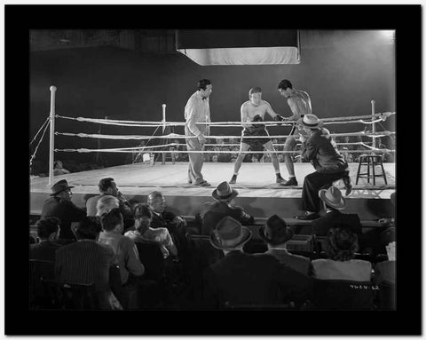 Dead End Kids Boxing Scene in Black and white High Quality Photo