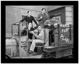 Dead End Kids Cast Member on a Truck in Black and White High Quality Photo