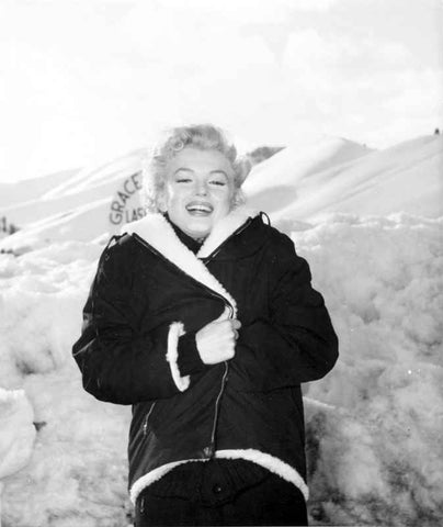 Marilyn Monroe in Winter Coat High Quality Photo
