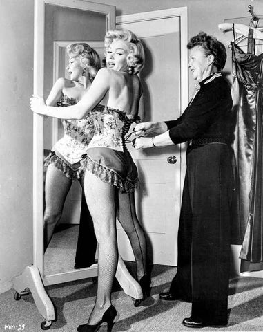 Marilyn Monroe in Corset Movie Scene from Bus Stop - Photograph High Qua... High Quality Photo