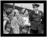 Dead End Kids Scene in Black and White with a Policeman High Quality Photo