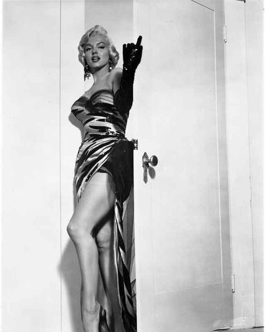 Marilyn Monroe Come Hither in Gloves High Quality Photo