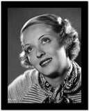 Bette Davis Portrait Looking Up in Knitted Long Sleeve Shirt and Neckerchief High Quality Photo