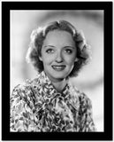 Bette Davis Portrait smiling in Floral White Dress and Neckerchief High Quality Photo